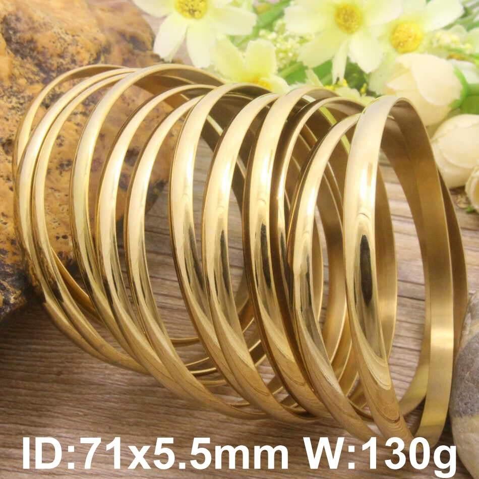 Hot Nova Jóia De Aço Inoxidável banhado a ouro cor 71mm e BFADARBI 59 milímetros Pulseiras para a menina e as mulheres