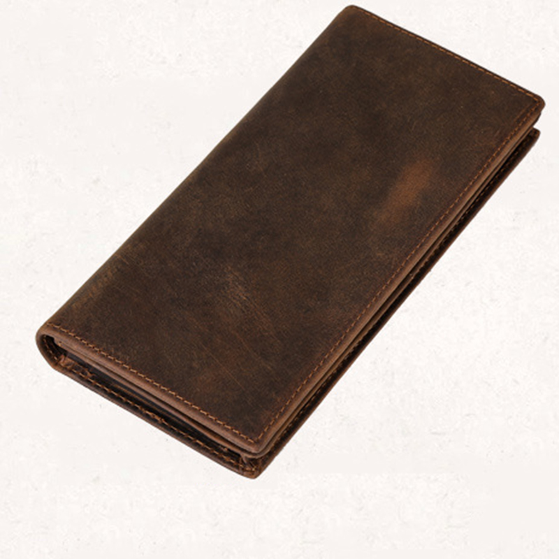 2018 New Genuine Leather Men Wallets Business Brand Card Holder Coin Purse Multi-Card Bit Long Wallet Clutch Carteira Masculina new genuine leather men wallets long clutch vintage crocodile male coin card holder purse fashion wallet men clutch bag hot sale