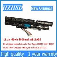 11.1v 66wh 6000mah AS11A5E New Original Laptop battery for Acer Aspire 3830TG 3830T 4830T 5830T 5830TG 4830TG AS11A3E AS11A5E