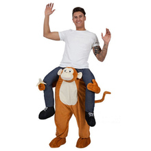 Monkey Ride-on Animal Costumes Christmas Oktoberfest Party Cosplay Clothes Carnival Adult Dress Up Disfraz Horse Riding Fun Toys