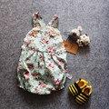 Rose Floral Printed Baby Romper ,Vintage Baby Girls playsuit ,Lace Floral printes Baby Swag Romper