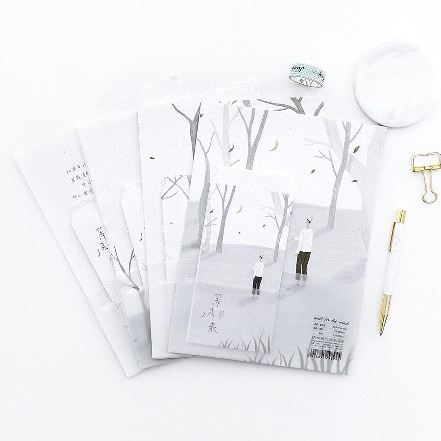 9 Teile/satz 3 Umschläge + 6 Writting Papier Bis In Die Wind Umschlag Für Geschenk Koreanische Schreibwaren Harmonische Farben