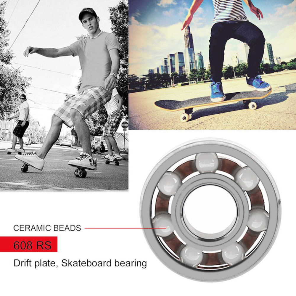 Hybrid Ceramic Bearing ABEC 9inline Skate Bearings Skate Skateboard Long Board