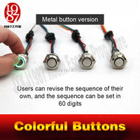 Props For Takagism Game Real Life Escape Room Prop Four Color Buttons For Escape Secret Chamber