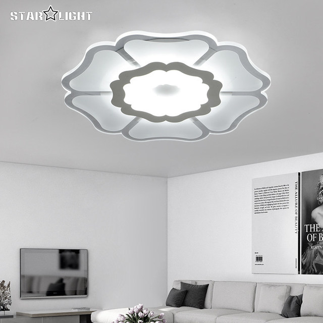 Modern LED Ceiling Chandelier Fixtures Living Room Lamp Acrylic New Energy Efficient Home Luxury