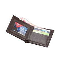2019 Luxury 100% Leather Wallet Fashion Short Mens Casual Soild with Coin Bag