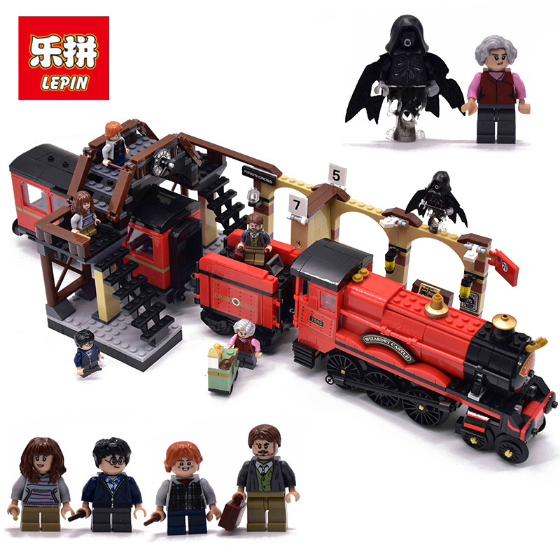LEPIN 16055 Hogwarts Express Harri MINI Potter Figures Building Blocks Bricks Hogwarts Train legoings Toys for children 75955