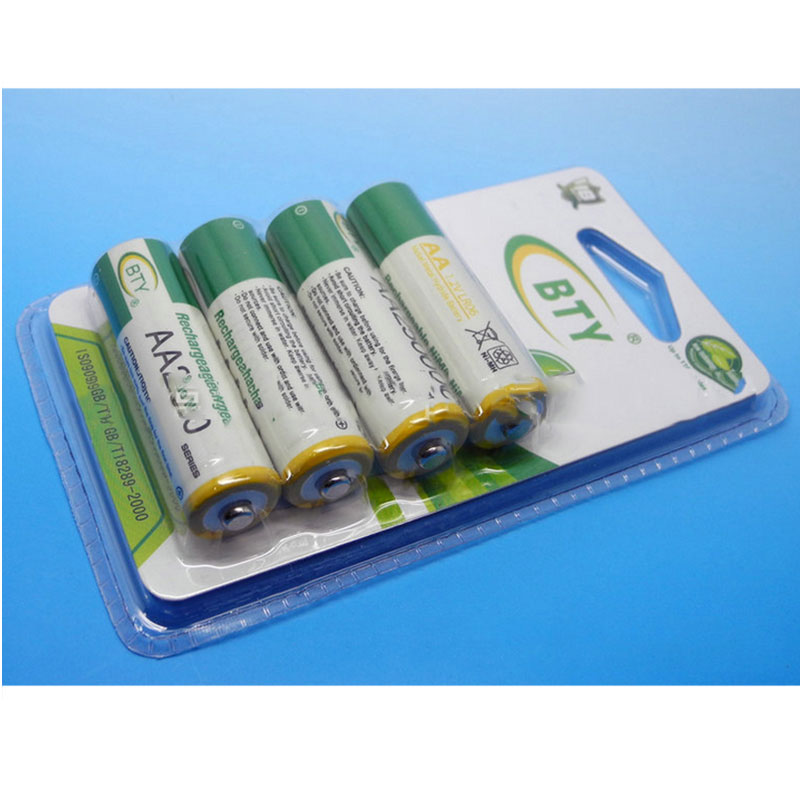 4pcs/lot AA Size 1.2v ni mh pillar batteries 2500mah rechargeable battery for electric device free shipping