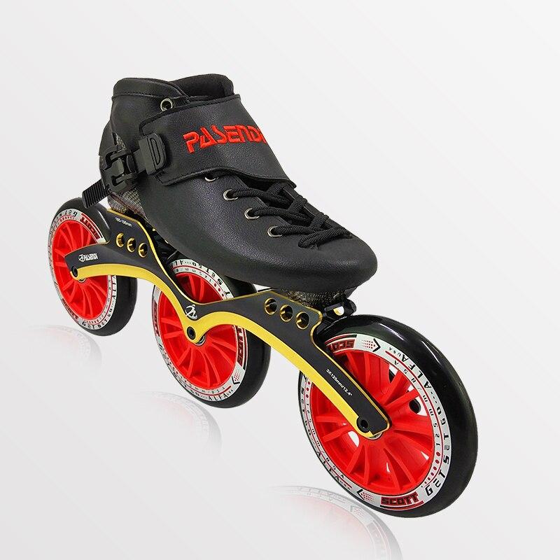 PASENDI professionnel en Fiber de carbone chaussures de patinage de vitesse 3 roues 3X125mm et 3X110mm femmes chaussures de patinage à roulettes hommes enfants chaussure