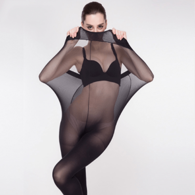 120D Super Elastic Magical Tights Women Seamless Sexy Stockings Black Thin Pantyhose Nude Sheer Mesh Collant Femme Drapshipping