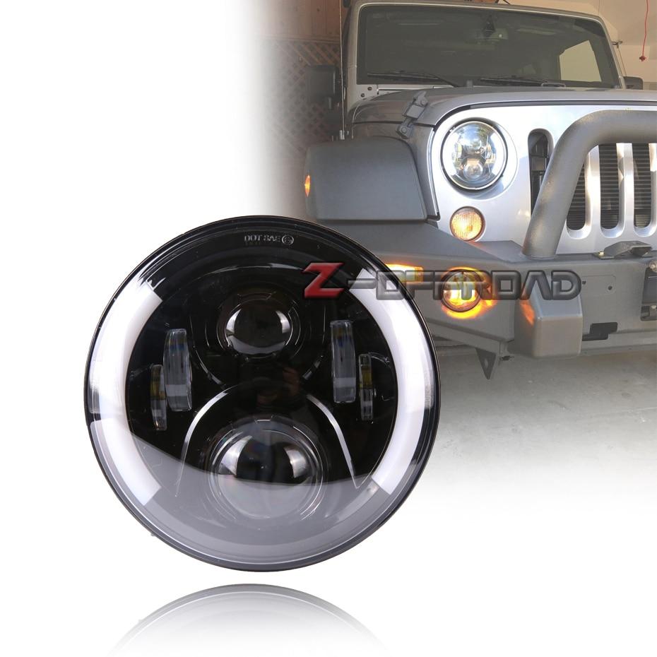 For Land Rover Defender 90 & 110 7Inch 12V LED Headlights