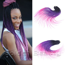 new arrival18 inch long Colored ombre crochet hair extensions synthetic ombre braiding hair Senegal curly twist Crochet Braids