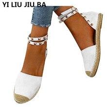 hot sale Summer White flats Women Sandals round Toe Gladiator