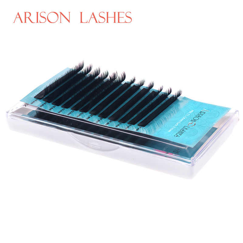 ARISON,12Rows,Faux mink individual eyelash extension, cilia lashes extension for professionals,soft mink eyelash extension