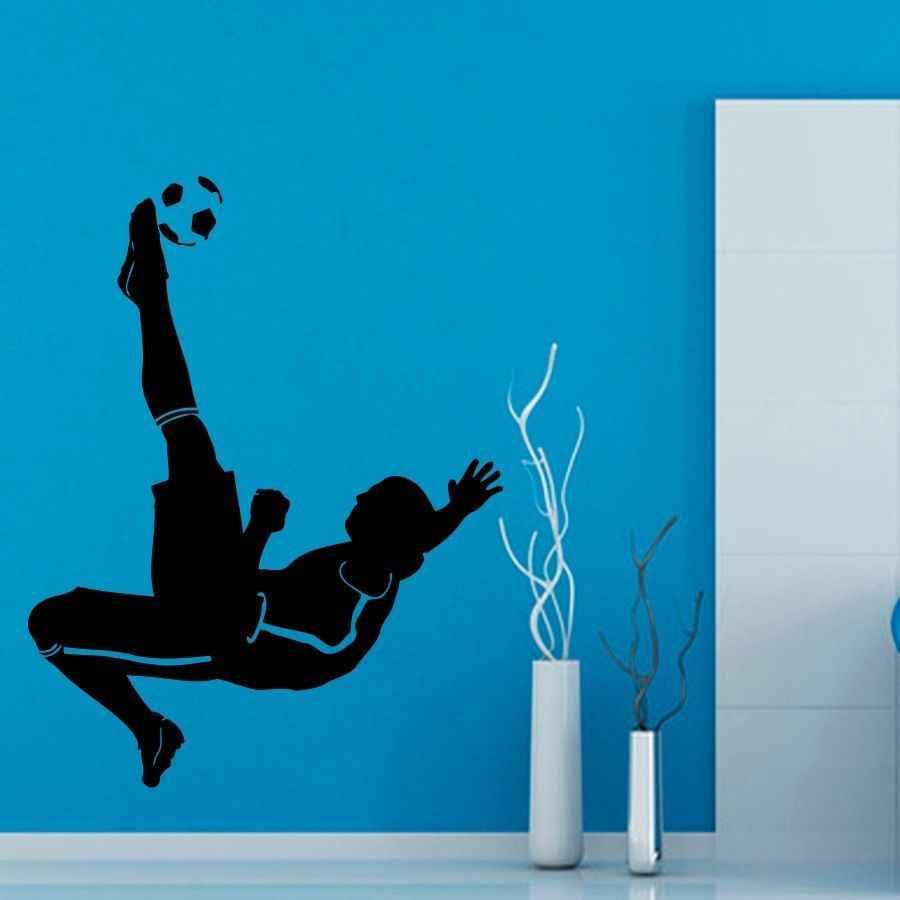 كرة القدم لاعب ملصقا الرياضية لكرة القدم صائق الملصقات الفينيل صور مطبوعة للحوائط Pegatina كوادرو Parede ديكور جدارية كرة القدم ملصقا