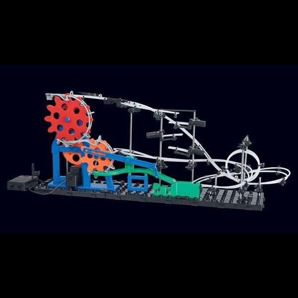 New SpaceRail New Level 2 232-3 5600mm Time Machine DIY Spacewarp Erector Set Model Building Kit Roller Coaster Educational Toys solar powered roller coaster model kit educational toy
