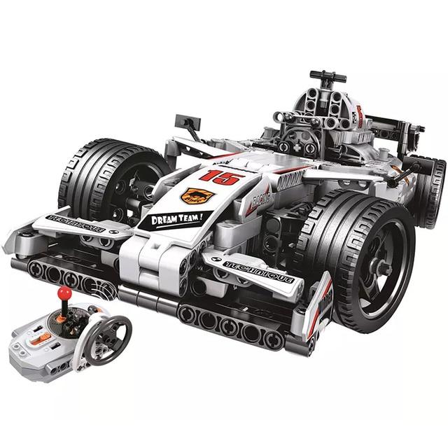 Remote Control Racing Car Formula 1 Building Block Set 729 Pieces