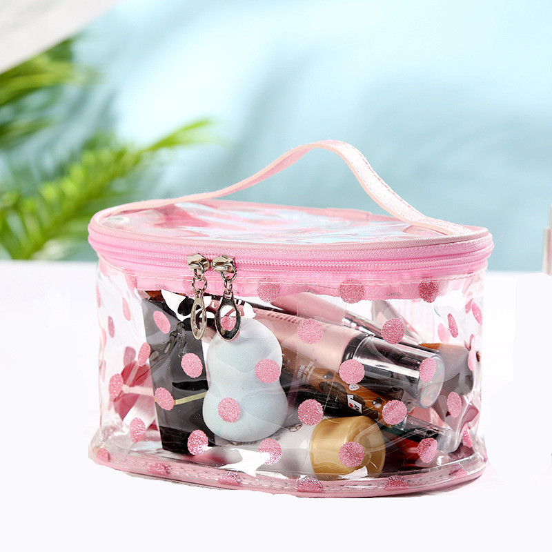 ETya Women Big Transparent Cosmetic Bag Travel Female PVC  Makeup Bags Wash Toiletries Storage Tote Organizer Cases Pouch