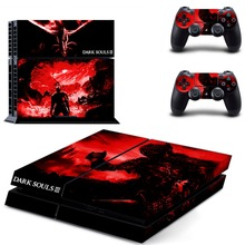 Dark Souls III Decal PS4 Skin Sticker Controller Sticker 2 Pieces+1PCS Console Sticker For Sony PlayStation 4