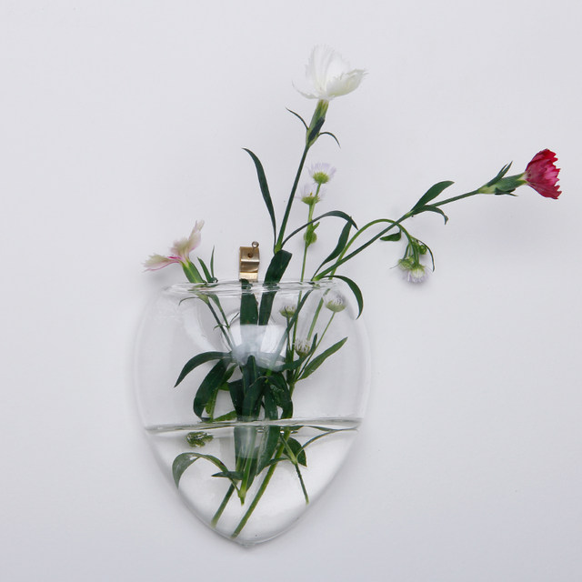 Online Shop Mouse Vase Christmas Wall Terrarium Glass Flower Vase