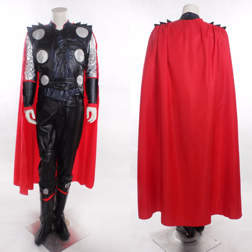 Anime! Avengers: Age of Ultron Thor Uniform Cosplay Costume Performance Wear For Men Custom made Size Free Shipping