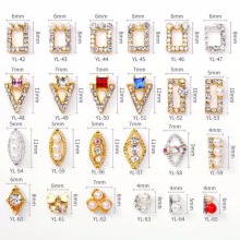 100pcs/Lot Newest Crystal Colourful Nail Rhinestone Alloy Art Decorations Charms DIY Glitter 3D Jewelry Decor YL42-65