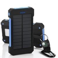 خزان طاقة يعمل بالطاقة الشمسية مقاوم للماء 30000mAh شاحن بالطاقة الشمسية منافذ الخارجية شاحن باوربانك للهواتف الذكية شاومي مع مصباح ليد-في شاحن متنقل من الهواتف المحمولة ووسائل الاتصالات على