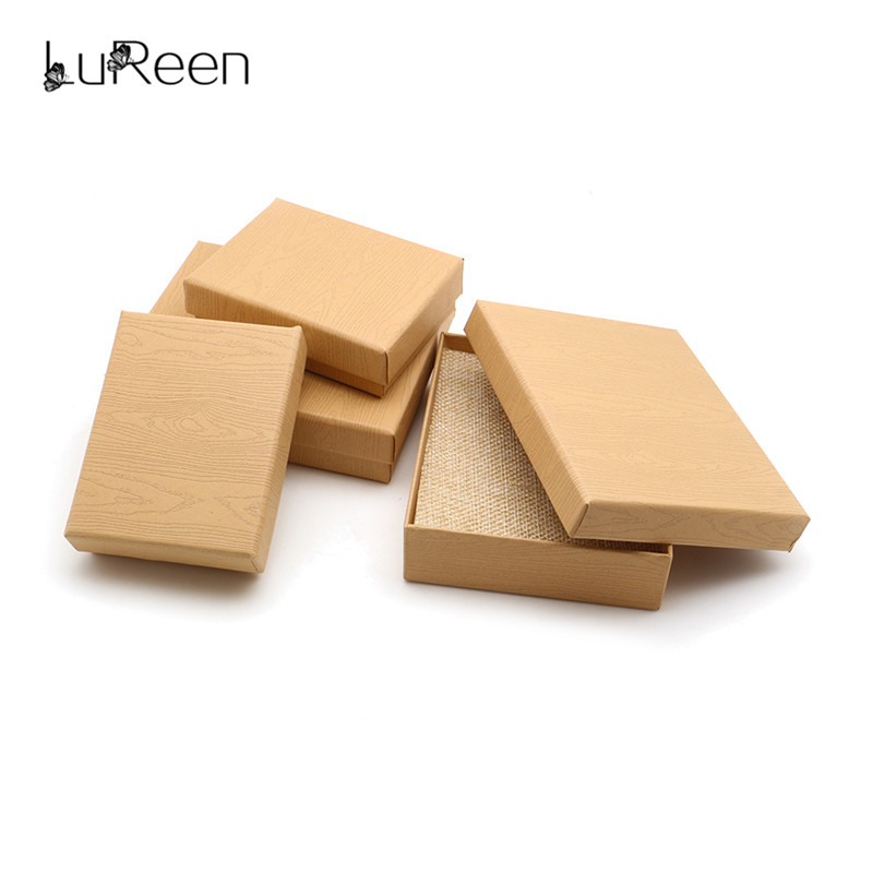 Sparkling Multi-color Cotton Filled Jewelry Gift And Packaging Display Boxes Jewelry Boxes