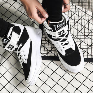 Image 2 - Mazefeng 2018 Spring Men Casual shoes Hard Wearing high top Shoes Men Sneaker Lace up Trend Men Flats Shoes Breathable Male Flat