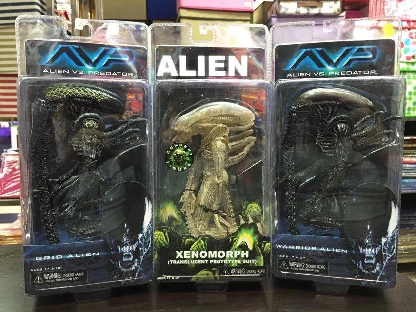 Alien VS. Predator Grid Alien Warrior Alien Xenomorph PVC Action Figure Collectible Model Toy 19cm KT1912 alien figure 018 alien queen xenomorph 18cm pvc action figures doll toys