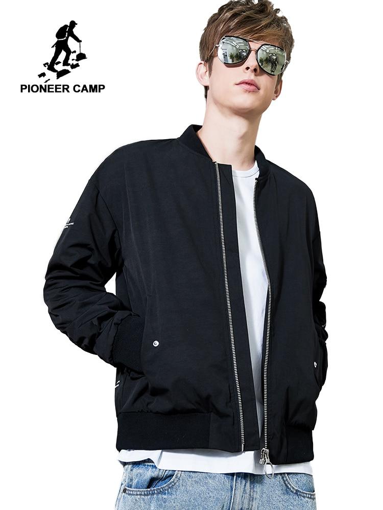 Pioneer Camp Spring New Men's Bomber Zipper Jacket Male Casual Streetwear Hip Hop Slim Fit Pilot Coat Men Clothing AJK901178