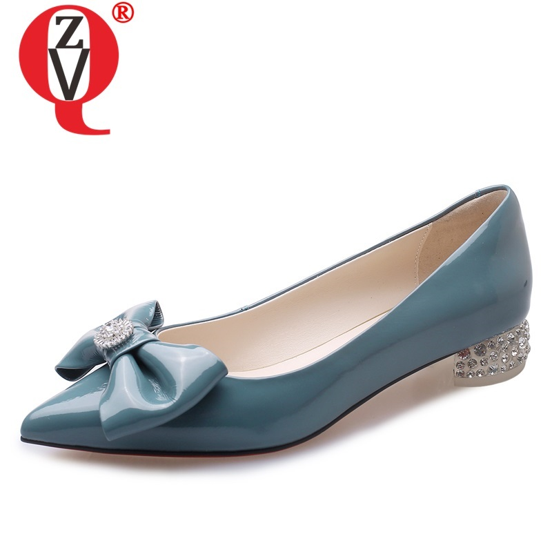 ZVQ hot sale woman shoes 2019 spring new fashion sweet bowtie genuine leather woman flats outside comfortable pointed toe shoesZVQ hot sale woman shoes 2019 spring new fashion sweet bowtie genuine leather woman flats outside comfortable pointed toe shoes