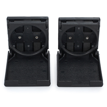 2Pieces Folding Cup Holder Plastic Beverage Drinking Foldable Holders for Car Truck VAN Marine Boat Foosball Table accessory