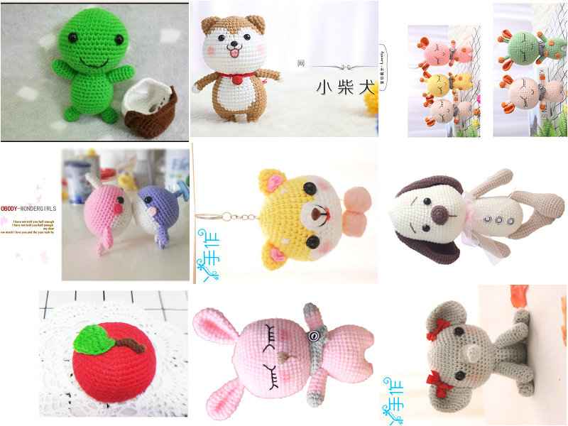Handmade diy Material package Knitting crocheted doll wool deer unfinished Plush Toy crochet Pendants With weaving tools