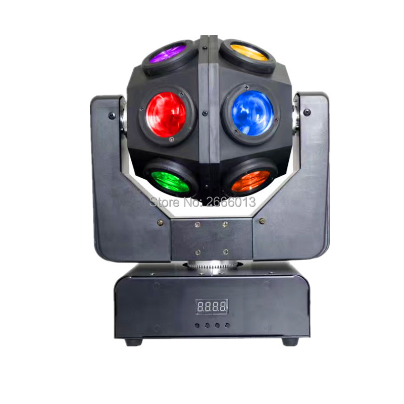 12X10W RGBW LED Beam Moving Head Light 4in1 Infinite LED Beam Effect Lights DMX512 Unrestricted Rotation