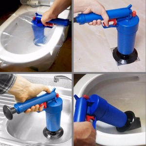 Image 4 - Air Drain Blaster High Pressure Pump Cleaner Unclogs Toilet Sewer Cleaning Brush Kitchen Bathroom Powered Plunger Remover Tool