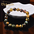 New Fashion Striped Agate Bracelet Lap Ball Natural Stone Jewelry 10mm Bead Pulseras Diybeads