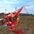 Envío de la alta calidad de artesanía tradicional China dragon head niños kite ciempiés de Siete metros de largo