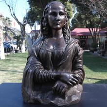 лучшая цена Sculpture copper sculpture half-length head portrait statue decoration technology gift home accessories