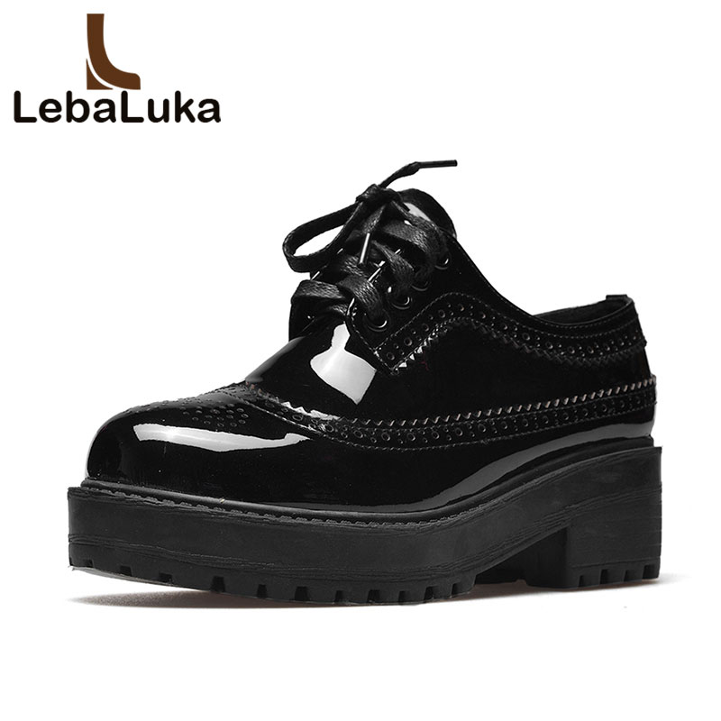 купить LebaLuka Simple Shoes Women Real Genuine Leather High Heel Shoes Women Cross Strap Flock Shoes Women Thick Heel Pumps Size 35-40 по цене 3670.51 рублей