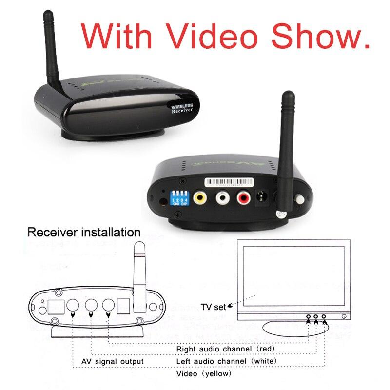 Sainsonic New PAT-330 2.4GHz Wireless AV Sender TV Audio Video Transmitter Receiver for DVD DVR STB IPTV 150M Free Shipping