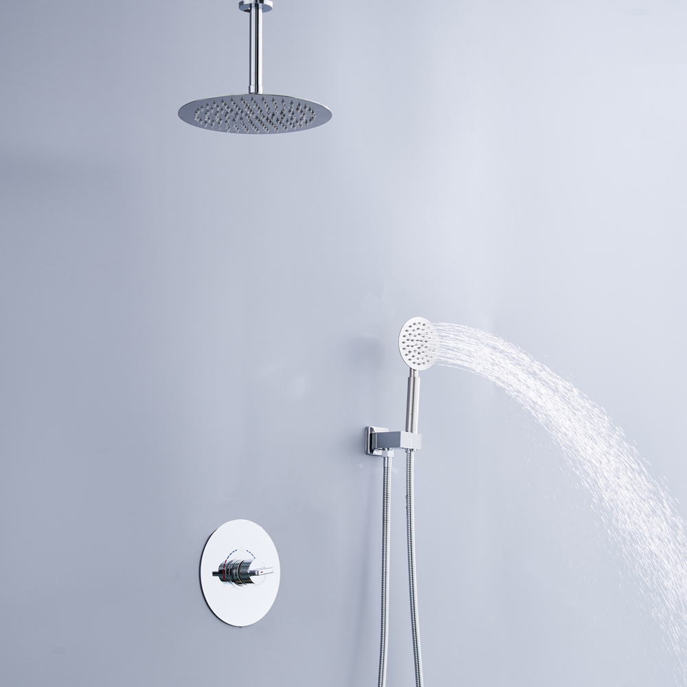 Luxury Rain Bath Combination Shower Mixer Digital Ceiling Mounted ...