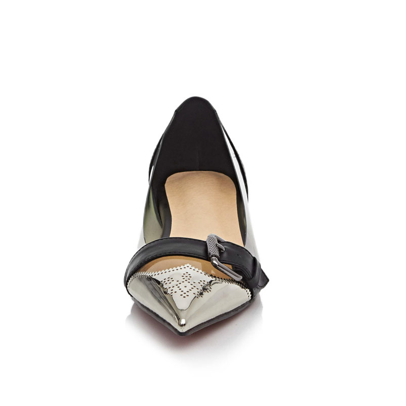 8080577421c3 Ladies Shoes brand Buckles Women Famous Leather And PVC Designer Flat Shoes  2016 Pointed Toe Fashion Show Shoes For Spring-in Women s Flats from Shoes  on ...