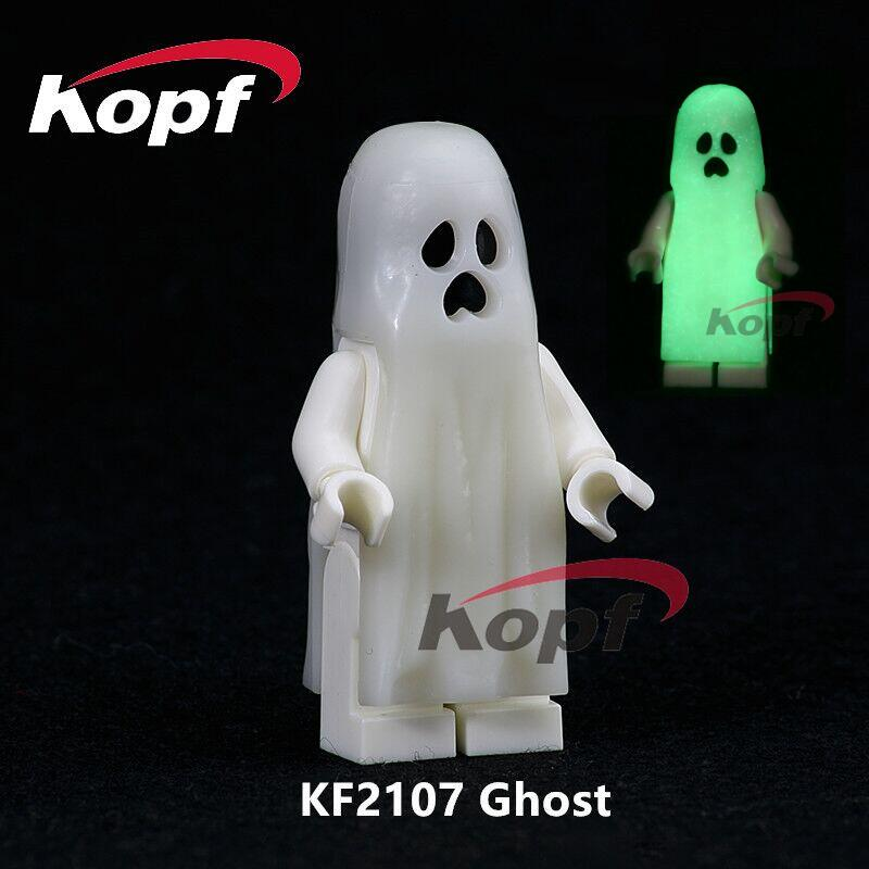Building Blocks Single Sale The Horror Theme Movie Gloom In The Dark Luminous Moonlight Glow Ghost Toys for children Gift KF2107 da045 single sale the day of the dead coco movie hector miguel building blocks bricks best learning doll for children gift toys