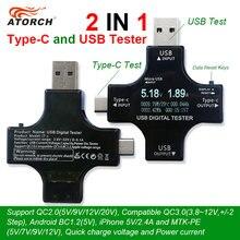 ATORCH Type-C pd USB tester DC Digital voltmeter amperimetro voltagecurrent meter ammeter detector power bank charger indicator