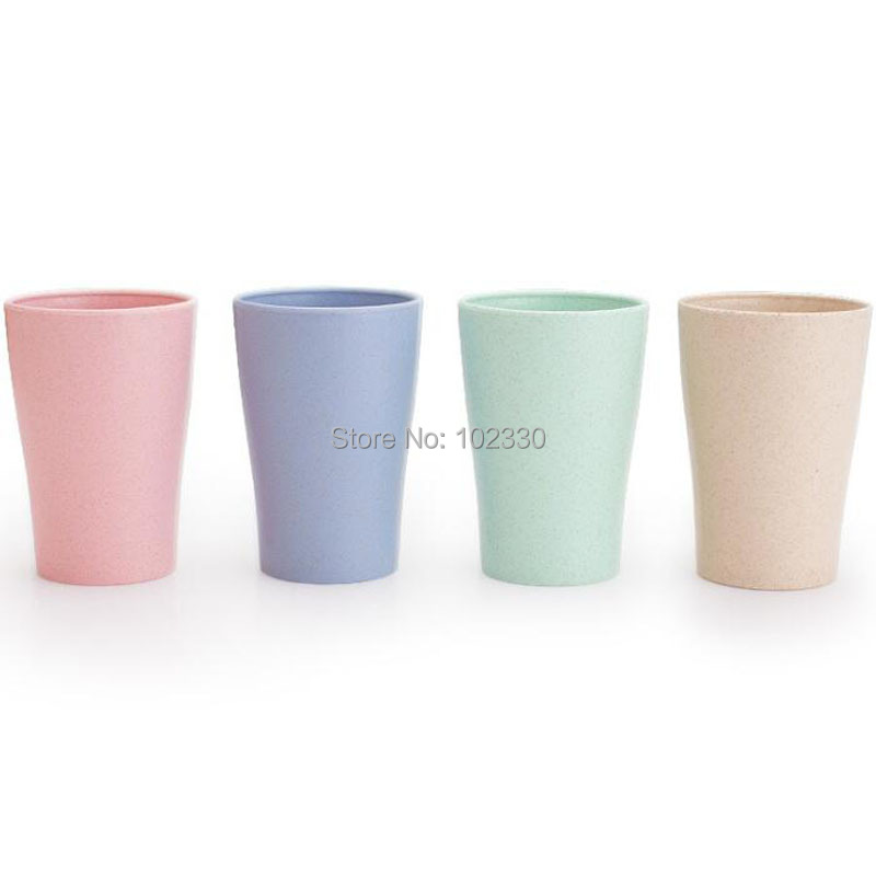 Cup Bathroom Tumblers Sets Wheat Straw