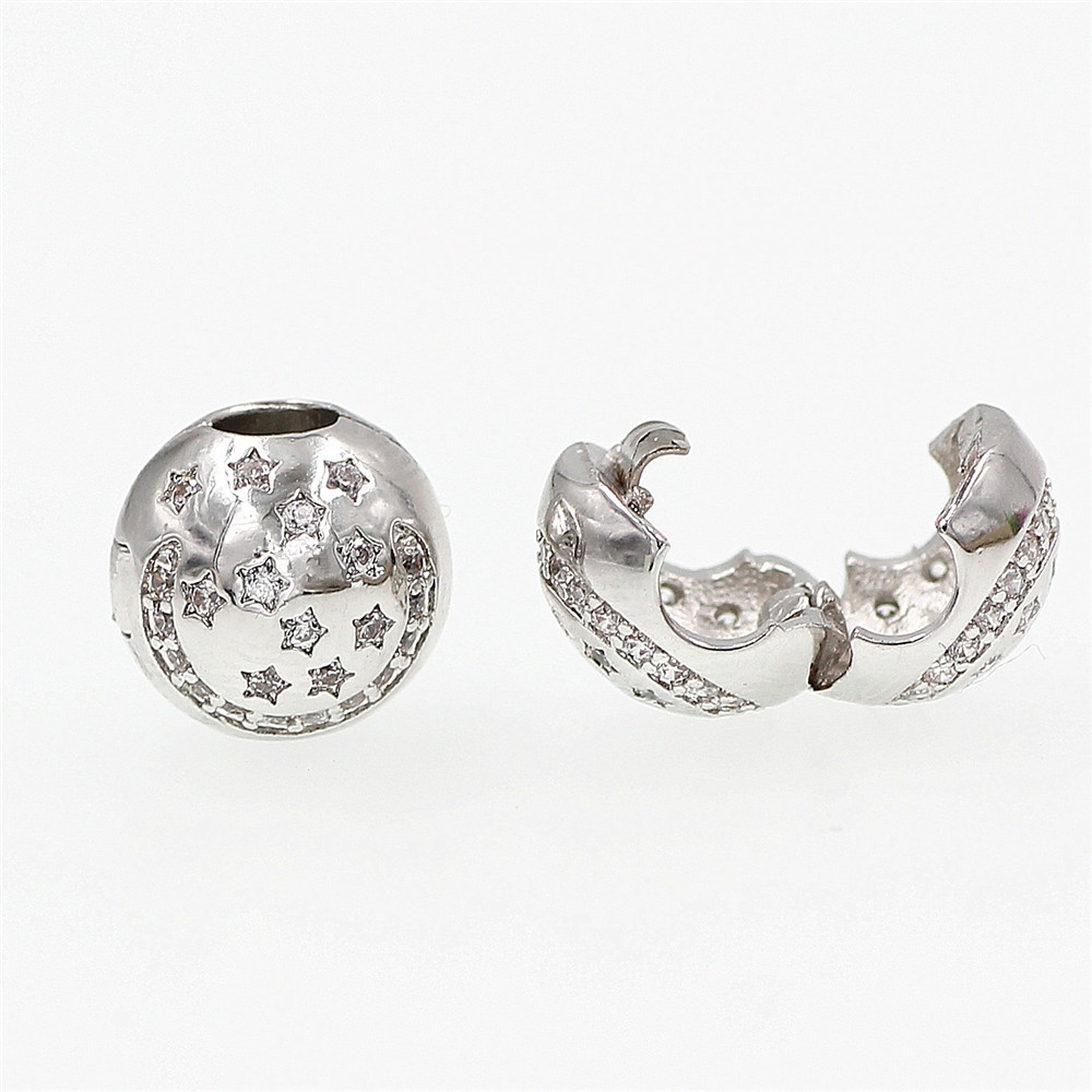 Safety Chain Clip Beads diy charms Fit pandora Charm Bracelets Silver Original Dangle Charms fashion Jewelry making