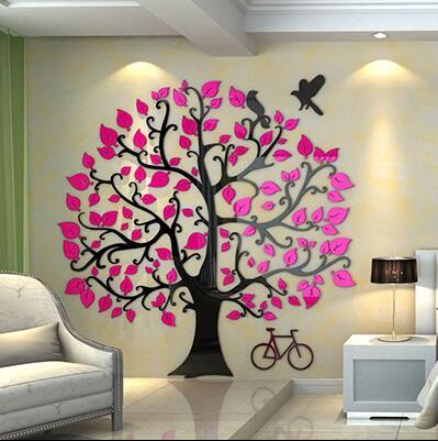 Creativo flor vid DIY habitación de los niños dormitorio hogar sala de estar TV Fondo decoración de pared 3D acrílico pared pegatina - 4