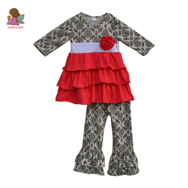 1db3a0c54 toddler girls spring boutique clothes flower tunic dress and pant ...