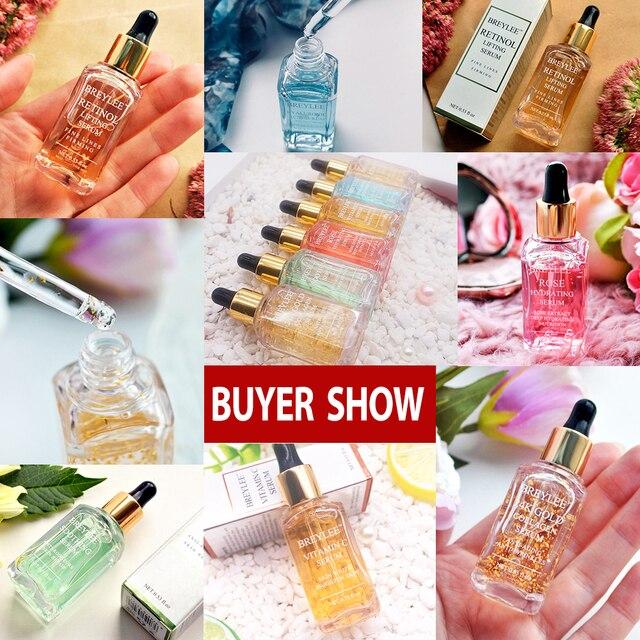 BREYLEE 2pcs 24k Gold Serum Collagen Lifting Firming Face Skin Care Collagen Whitening Anti aging Wrinkle